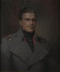 portrait of colin edward hunter-blair, scots guard by charlotte blakeney ward
