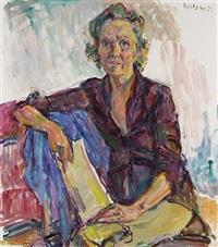 porträt der kunsthändlerin inge seifert-binder by wolfgang von websky