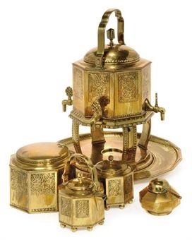 tea service set of 7 by münchner werkstätten