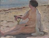 nu à la plage by fernand allard l'olivier
