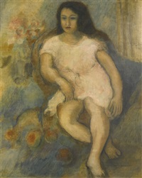 jeune femme assise by jules pascin
