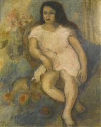 jeune femme assise by jules pascin