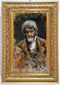 ritratto di vecchio con barba bianca by francesco filippini