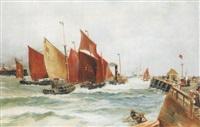 holländischer hafen by josef köpf