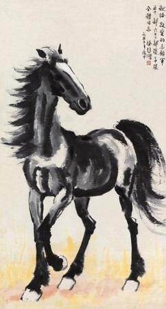 骏马 horse by xu beihong