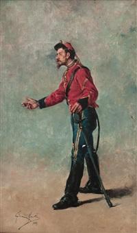 militar con sable by josé giménez martín