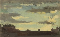volterra - tramonto by vincenzo cabianca