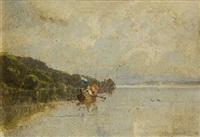 bootspartie auf dem starnberger see by richard von poschinger