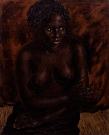 seated nude by alfred neville lewis