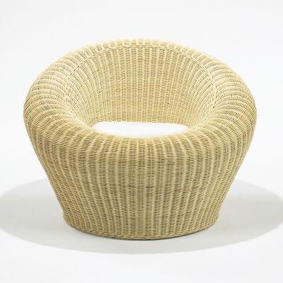 rattan round chair model t 3010 by isamu kenmochi