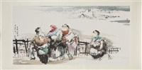bönder i snöstorm by sanshi zhang