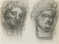 untitled (antique heads) by arshile gorky