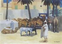 marché aux chameaux by francois marie léon de marliave