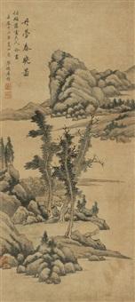 丹台春晓图 (landscape) by tu zhuo