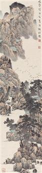 暖春 立轴 设色纸本 ( landscape) by liu tongcheng