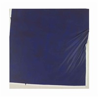untitled (dark blue) by steven parrino