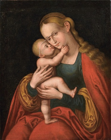 madonna col bambino by lucas cranach the elder
