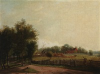 the road along the farm (kentucky or ohio river valley?) by american school-southern (19)