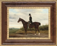 a gentleman on a bay hunter by james loder of bath