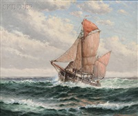ship on the high seas by theodore victor carl valenkamph