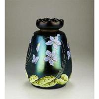 vase (decoration by betty heldrich) by ferdinand von poschinger