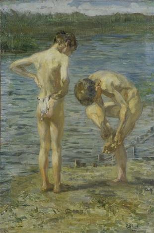 bambini sul fiume by beppe ciardi