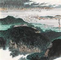 湖上帆影 by xue liang