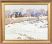 winter scene by george a. renouard