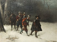 wallenstein mit garde im winter by christian sell the elder