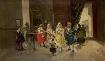 la entrada a la iglesia by eugenio lucas villamil