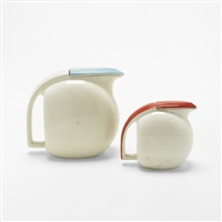 jiffy ware pitchers (pair) by viktor schreckengost