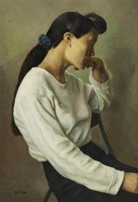 坐着的妇女 by chao ge