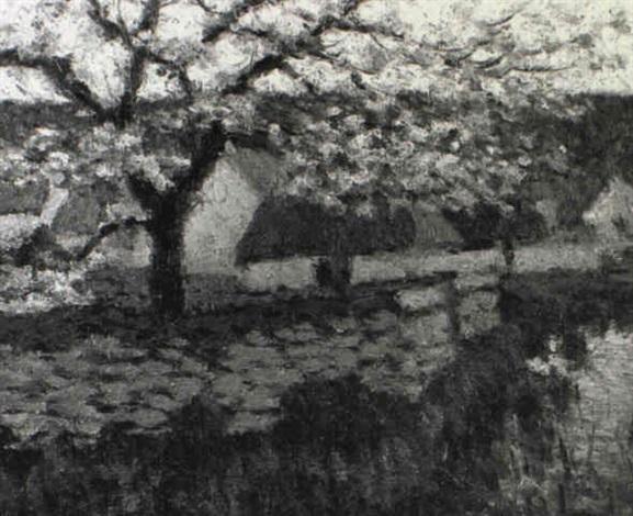 paysage suisse au printemps by oscar koelliker