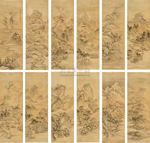 landscape 12 works by fa ruozhen