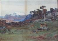 deer on a hillside by david farquharson