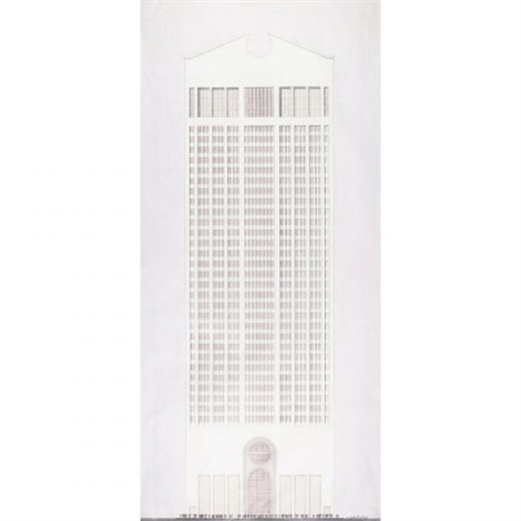 presentation rendering for the att building by philip cortelyou johnson