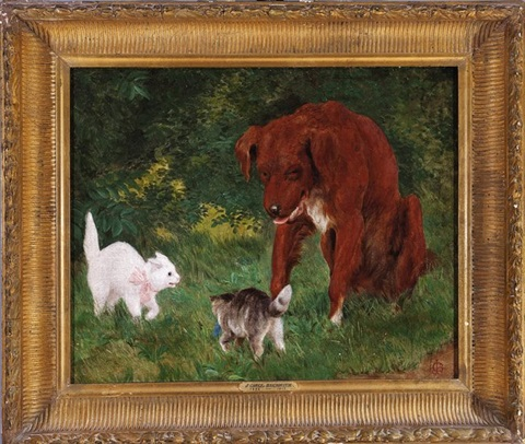 the challenge two cats and a dog by james carroll beckwith