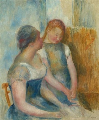 la conversation by pierre auguste renoir