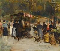 marché aux fleurs by marcel françois leprin