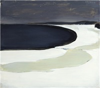 frozen lake shore by h. (einar reuter) ahtela