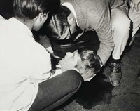 sen. robert f. kennedy lies on the floor, critically wounded (group of 3) by ron bennett