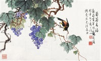 bird on the tree by huang huanwu