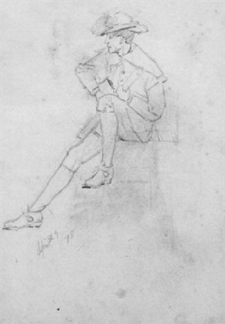 seated pilgrim by dennis miller bunker
