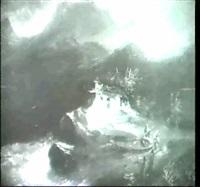 hauschen am felsen in der brandung. by theodor jachimowicz