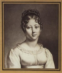 portrait of a young gentlewoman of the first empire by charles jospeh lemire the elder