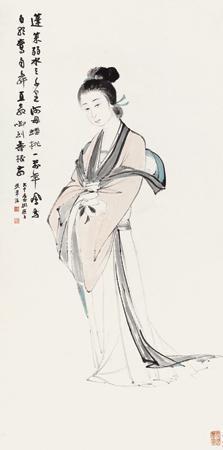 仙女献寿 character by zhang daqian