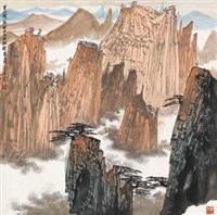 黄山斜照 by xue liang