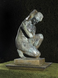 figure of the crouching venus by antique