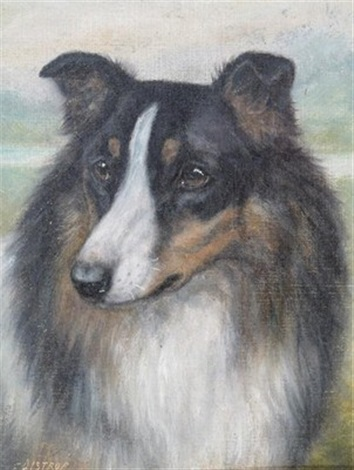 collie dogs pair by edward aistrop