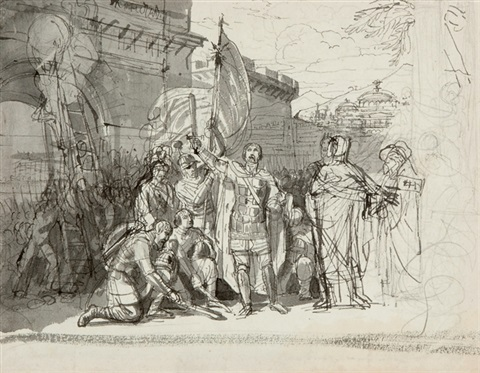 prince oleg at the gates of constantinople by karl pavlovich bryullov